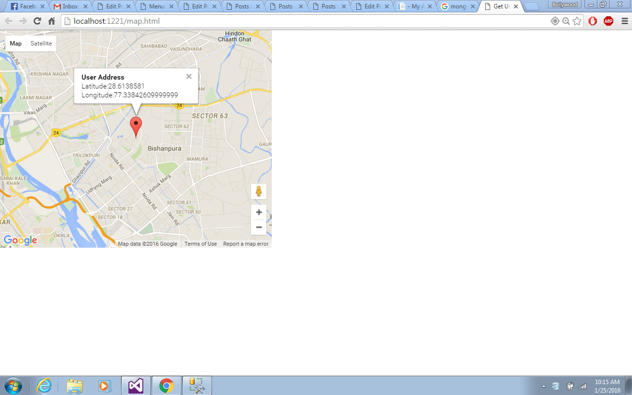 Get Current Location Using Google Map Geolocation API Service In - Google map user location